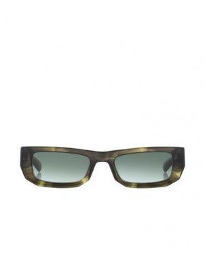 Солнечные очки FLATLIST. Цвет: зеленый-милитари