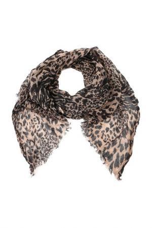 Шарф Codello. Цвет: черно-коричневый, леопард