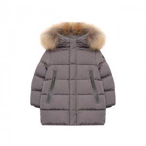 Пуховая куртка Il Gufo. Цвет: серый