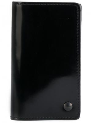 Бумажник с выдвигающимися отделениями Yohji Yamamoto. Цвет: чёрный