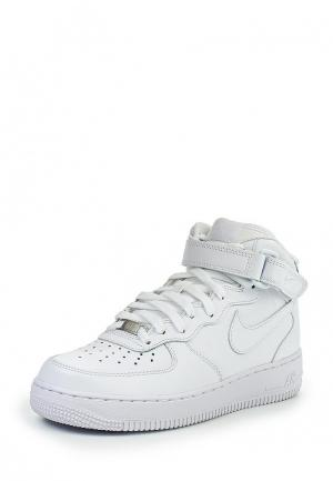 Кроссовки Nike Womens Air Force 1 07 Mid Shoe. Цвет: белый