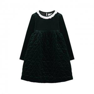 Хлопковое платье Paade Mode. Цвет: зелёный