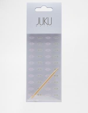 Набор треугольных наклеек на ногти Juku Nails эксклюзивно для ASOS. Цвет: мульти