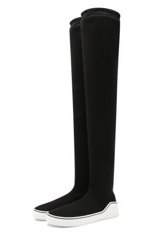 Текстильные ботфорты Givenchy. Цвет: чёрный