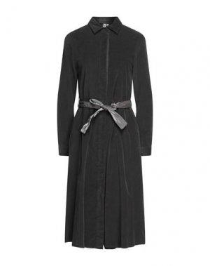Платье длиной 3/4 EUROPEAN CULTURE. Цвет: стальной серый