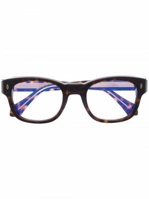 Очки в квадратной оправе черепаховой расцветки Cartier Eyewear. Цвет: коричневый