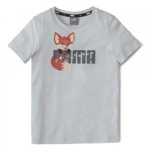 Детская футболка Animals Tee PUMA. Цвет: серый