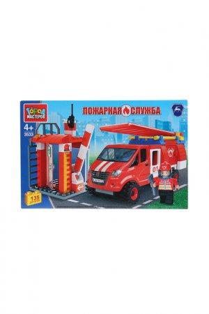 Пожарная база с газелью Город мастеров. Цвет: красный