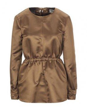 Блузка HACHE. Цвет: коричневый