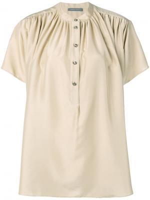 Расклешенная блузка на пуговицах Alberta Ferretti. Цвет: нейтральные цвета