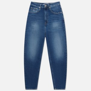 Женские джинсы Mom Super High Rise Tapered Tommy Jeans. Цвет: синий