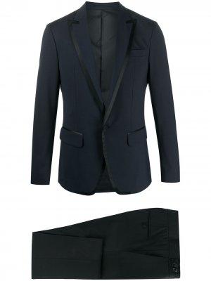 Вечерний костюм с контрастной отделкой Dsquared2. Цвет: синий