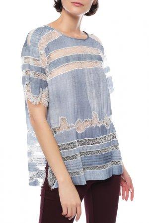 Блуза Ermanno Scervino. Цвет: голубой