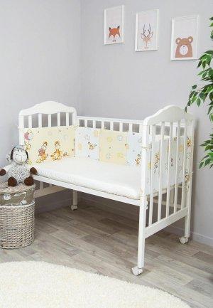 Бортик для детской кровати Сонный Гномик Жирафик. Цвет: разноцветный