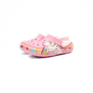Сабо FunLab Unicorn Crocs. Цвет: розовый