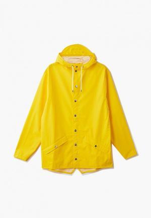 Плащ Rains. Цвет: желтый