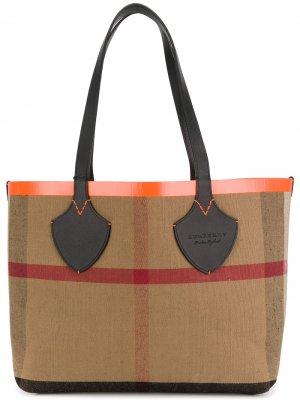 Giant reversible tote bag Burberry. Цвет: черный