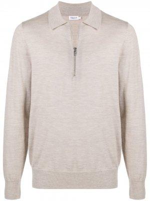 Рубашка поло Shawn на молнии Filippa K. Цвет: серый