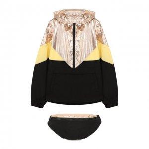 Комплект из куртки и поясной сумки Les Coyotes de Paris. Цвет: разноцветный