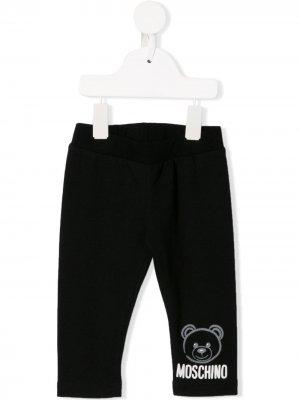 Легинсы с принтом Teddy Bear Moschino Kids. Цвет: черный