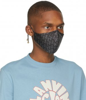 Black JL Maze Face Mask Lanvin. Цвет: 10 black