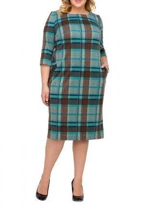 Платье Интикома. Цвет: изумрудный