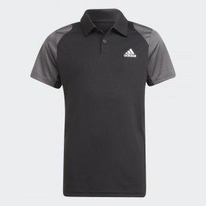 Футболка-поло для тенниса Club Performance adidas. Цвет: черный