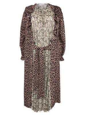 Многослойное платье BALENCIAGA. Цвет: разноцветный