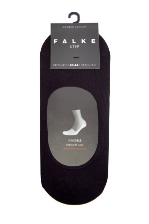Черные подследники из хлопка с технологией Anti-slip FALKE. Цвет: черный