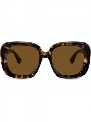 Солнцезащитные очки Nella в оправе черепаховой расцветки Oliver Peoples. Цвет: коричневый