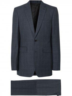 Классический костюм в клетку Windowpane Burberry. Цвет: синий