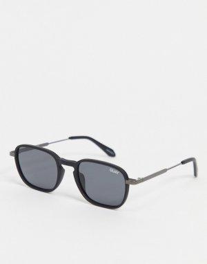 Черные круглые солнцезащитные очки в стиле унисекс Quay Gounded-Черный Australia
