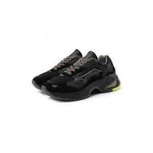 Комбинированные кроссовки Sharkyd Premiata. Цвет: чёрный