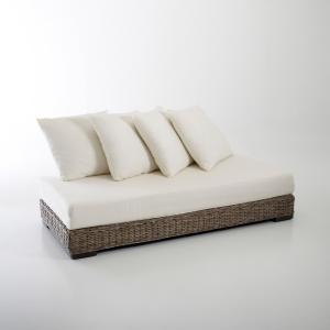 Кровать-банкетка с плетением кубу Giada LA REDOUTE INTERIEURS. Цвет: серо-бежевый