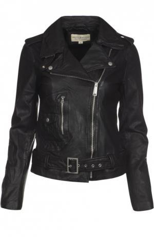 Кожаная куртка Denim&Supply by Ralph Lauren. Цвет: черный