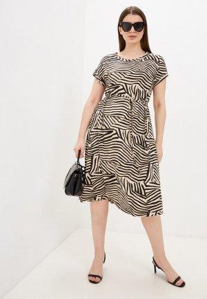 Платье Агапэ. Цвет: бежевый