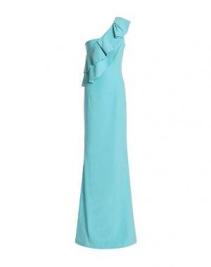 Длинное платье BLACK HALO EVE by LAUREL BERMAN. Цвет: бирюзовый
