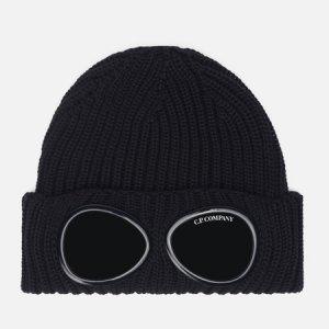 Шапка Extra Fine Merino Wool Goggle C.P. Company. Цвет: чёрный