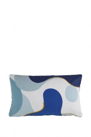 Подушка декоративная, 30х50 Tkano. Цвет: синий