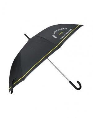 Зонт KARL LAGERFELD. Цвет: черный