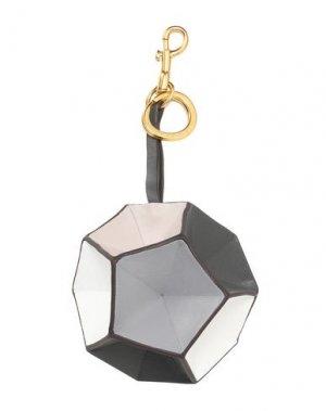 Брелок для ключей ANYA HINDMARCH. Цвет: серый