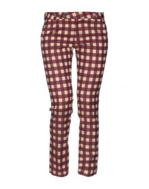 Повседневные брюки ALYSI. Цвет: баклажанный