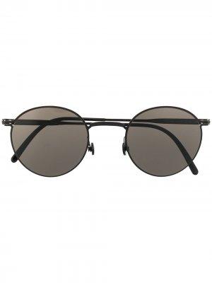 Солнцезащитные очки Casper в круглой оправе Haffmans & Neumeister. Цвет: черный