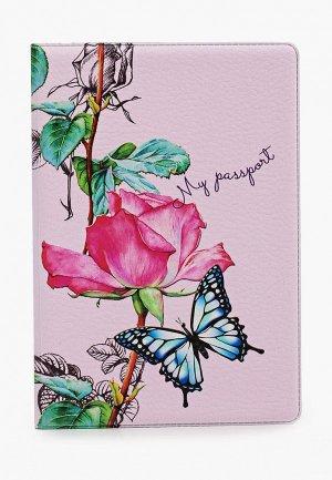Обложка для паспорта Artio Nardini. Цвет: розовый