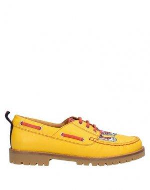 Обувь на шнурках GUCCI. Цвет: желтый