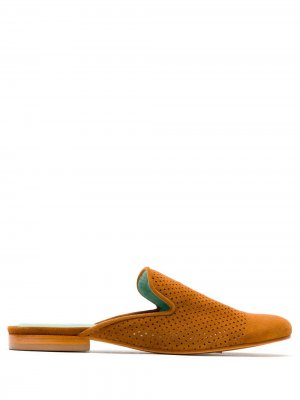 Perforated slippers Blue Bird Shoes. Цвет: коричневый