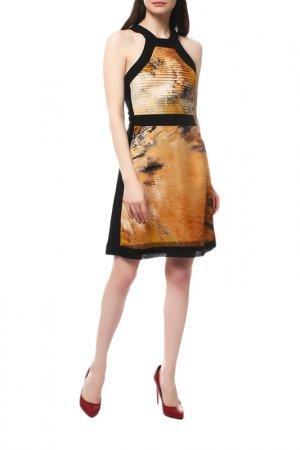 Платье Fendi. Цвет: оранжевый