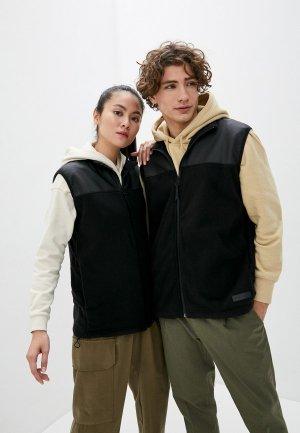 Жилет Rains Fleece Vest. Цвет: черный
