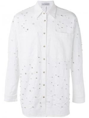 Джинсовая куртка с отделкой Faith Connexion. Цвет: белый