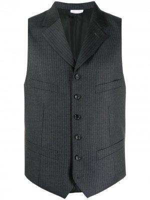 Приталенный жилет в полоску Comme Des Garçons Homme Deux. Цвет: серый